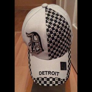 Detroit studded hat